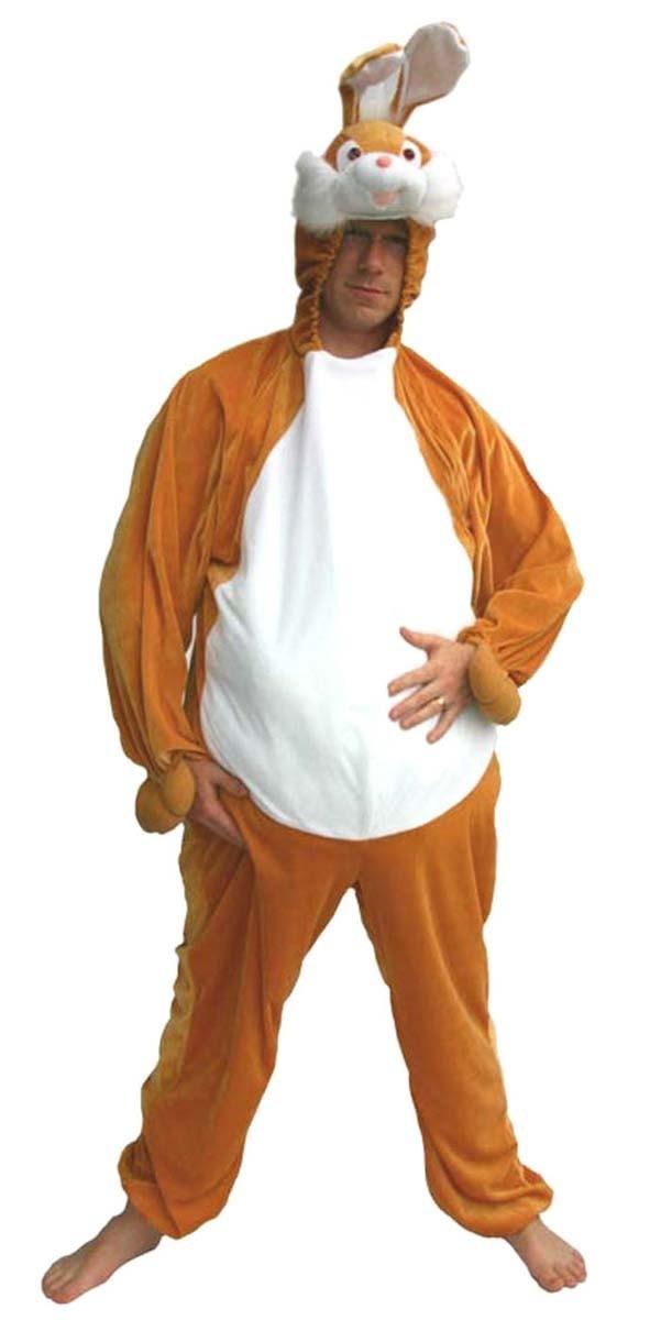 klar in Sicht wo kann ich kaufen erstaunlicher Preis Hasenkostüm für Erwachsene braun Kostüme Erwachsene, Body ...
