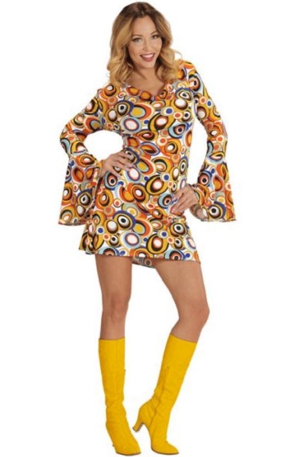 d3eda7012528 70er Jahre Schlager Kleid Damen Kostüme Erwachsene, Body, Umhang ...