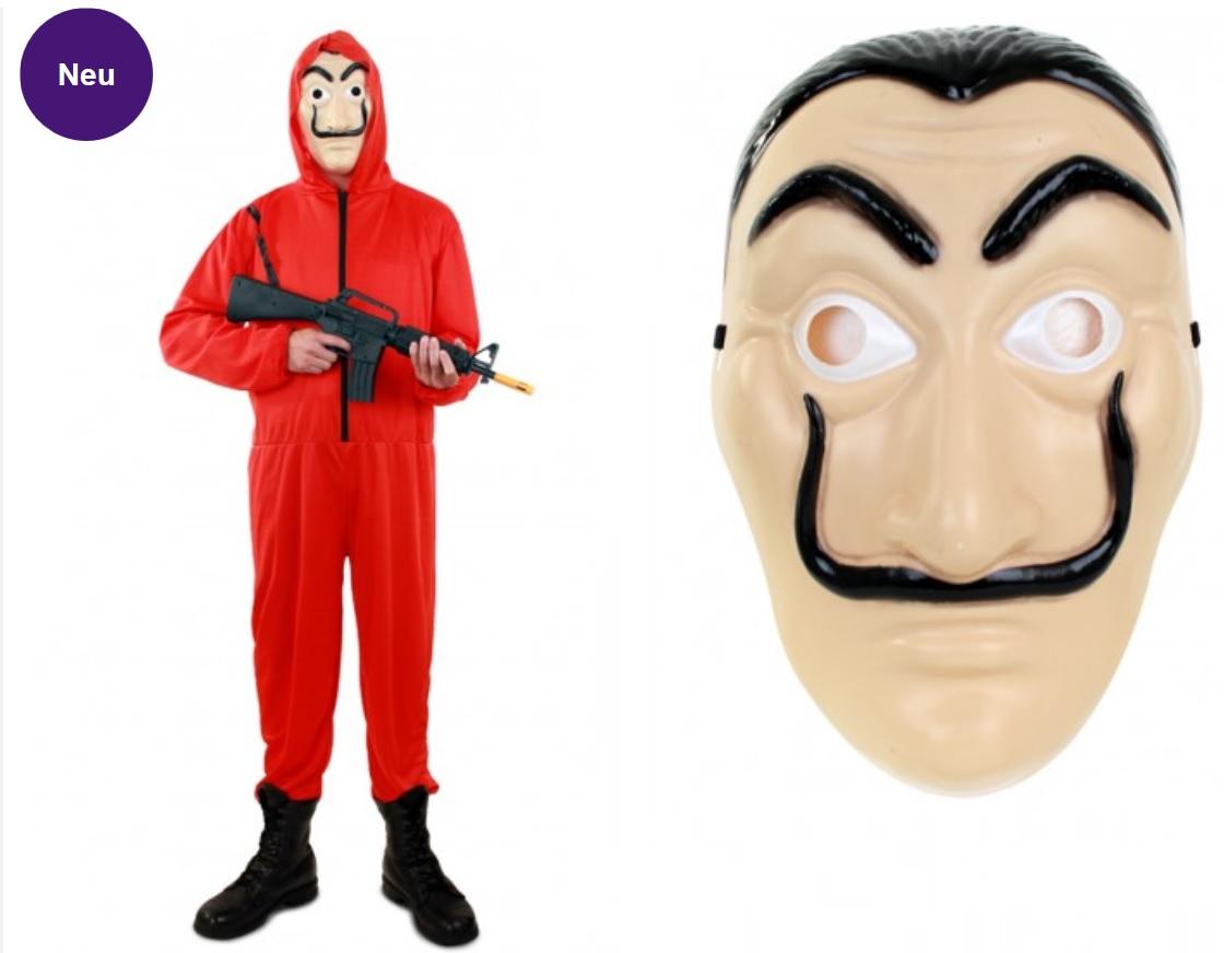 Haus Des Geldes Kostüm Mit Maske Kostüme Erwachsene Body Umhang
