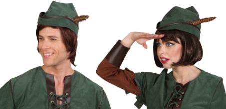 Robin Hood Mutze Jagermutze Mit Feder Kopfumfang 58 Cm Grun