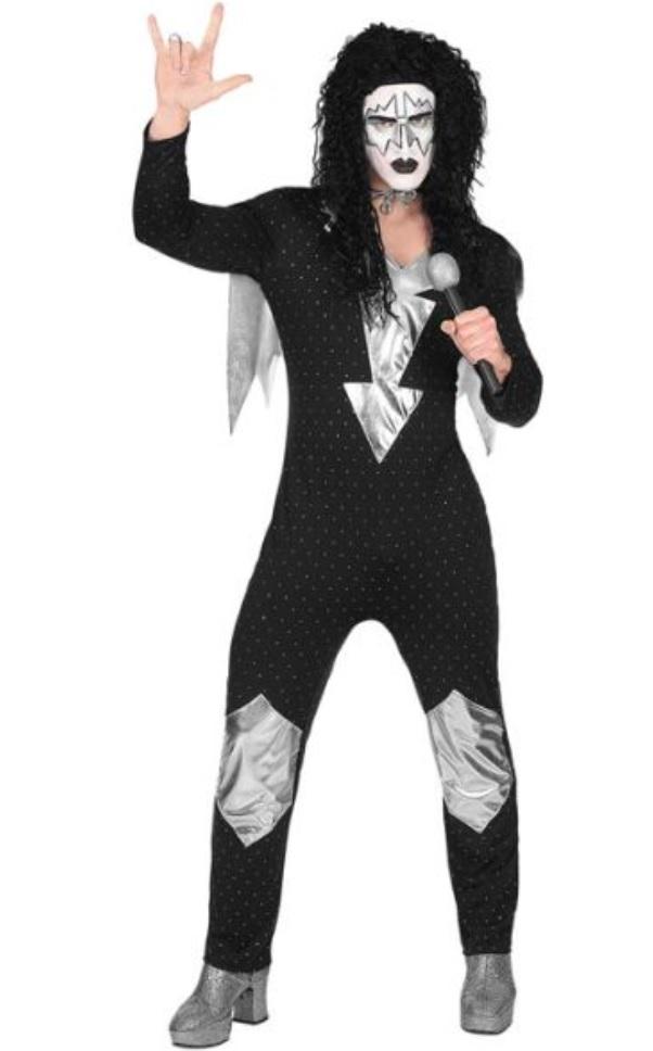 Kiss Kostum Rocker Kostum Rockstar Kostume Erwachsene Body Umhang