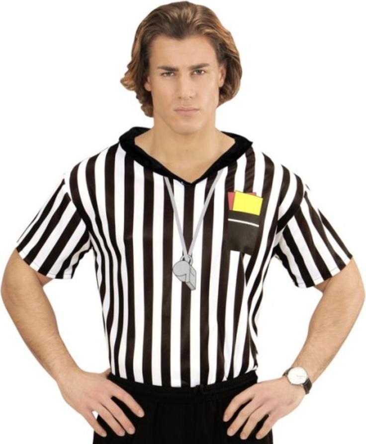 24fba25702f3 Schiedsrichter Shirt Fussball Kostüme Erwachsene, Body, Umhang ...