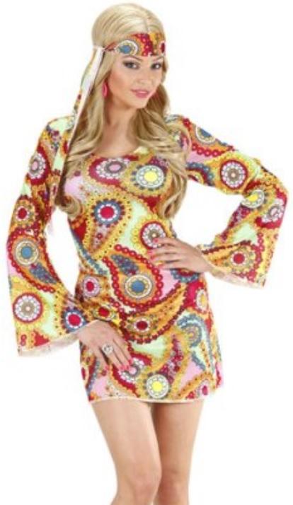60er 70er Jahre Kleid Damen Schlagerparade Hippie Kostume