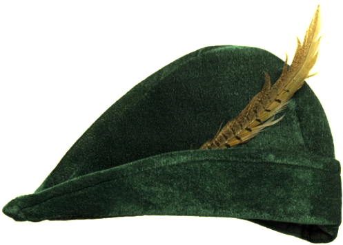Robin Hood Hut Mit Feder Jager Kopfumfang 56 Cm Grun